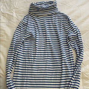 White and Blue Stripe Tissue J.Crew Turtleneck
